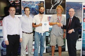 Mark and Anton receive their Guinness World Record Certificate at the British Embassy in Brazil